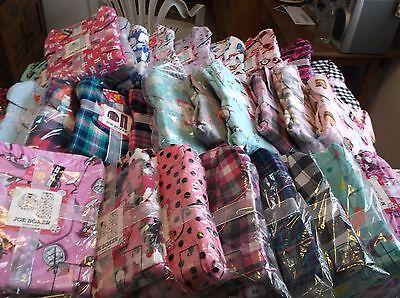 New Joe Boxer Pajamas  Womens Flannel 2 Piece Sets Use Drop Boxes Motif Size