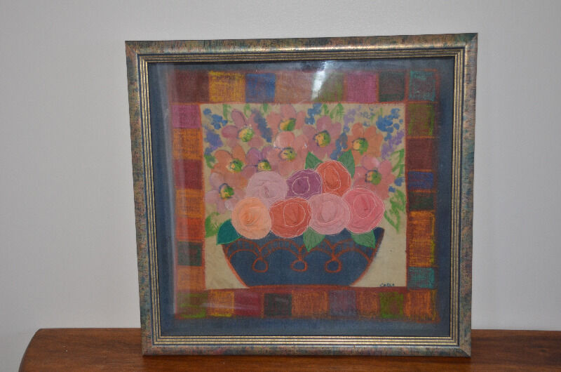 Framed Fabric Flowers