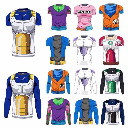 Men Dragon Ball Goku 3D T-Shirts Short Sleeve Vegeta Cycling Super Saiyan