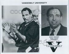 College Football Vanderbilt University Coach Gerry Dinardo Press Photo