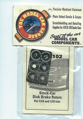 Discreet Mcg Photo Etched Stock-car Disc Brake Rotors Mcg-2102 1/24-1/25 Novel In Design;