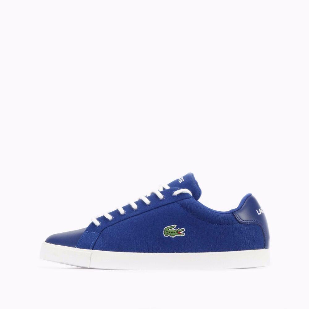 Lacoste Graduate Pique Homme Chaussures en Bleu/Blanc-