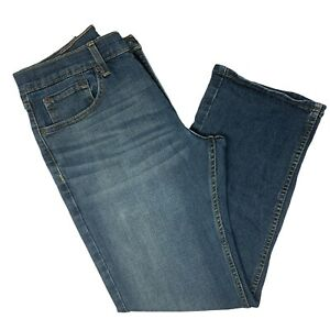 Signature-Levi-Strauss-Mens-Size-33-x-30-S61-Modern-Relaxed-Stretch-Denim-Jeans