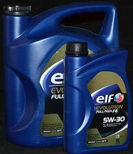 1x5+1x1=6 Liter Elf EVOLUTION FULL-TECH FE ( SOLARIS DPF ) Motoröl Renault 5W-30