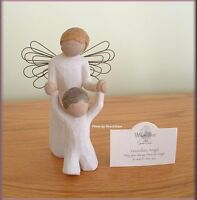 Guardian Angel Figurine With Toddler From Willow Tree® Angels Free U.s. Shipping