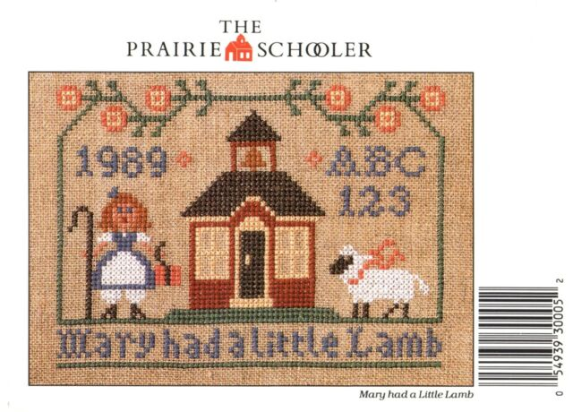 YOUR CHOICE PRAIRIE SCHOOLER counted cross stitch charts Cardstock new