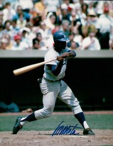 Manny-Mota-Signed-8X10-Photo-Autograph-Los-Angeles-Dodgers-Road-At-Bat-Auto-COA