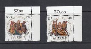BRD-Mi-Nr-1707-1708-zentrisch-gestempelt-EST-Gummierung-Bogenecke-Ecke-2