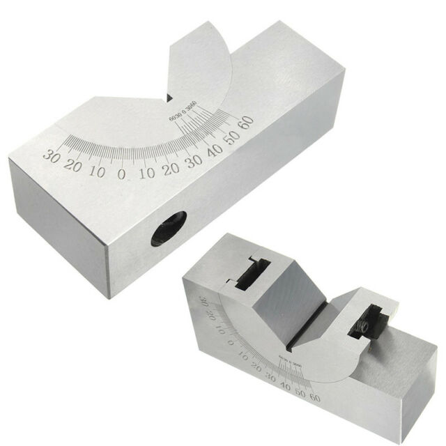 75x25x36 AP30 Stainless Steel Precision Micro Adjustable Angle V Block Milling