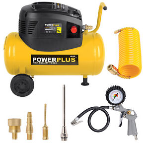 Automotive Tools & Supplies Learned Druckluft Kompressor 1100 W 1,5 Ps 8 Bar 24 L Tank Other Air Compressors Pistole Düsen Powerplus