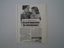 advertising Pubblicità 1952 VICKS VAPORUB