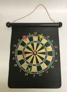 """Magnetic Dart Board - 12"""" x 14"""" Games for Magnetic Dart Board With 6 Darts"""