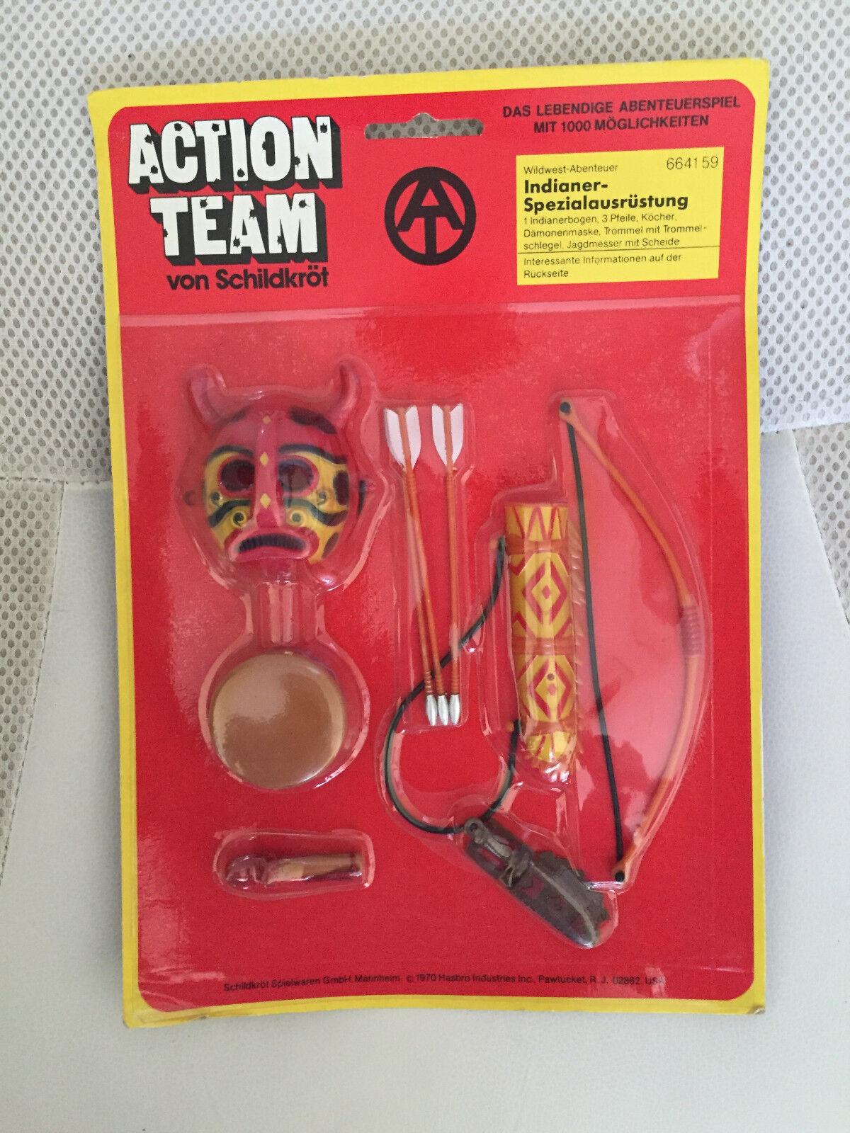 1970 moc vintage - gi joe action team mann hasbro 664159 schlug indischen ausrüstung