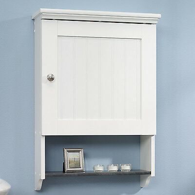 Bathroom Wall Cabinet White Over Toilet