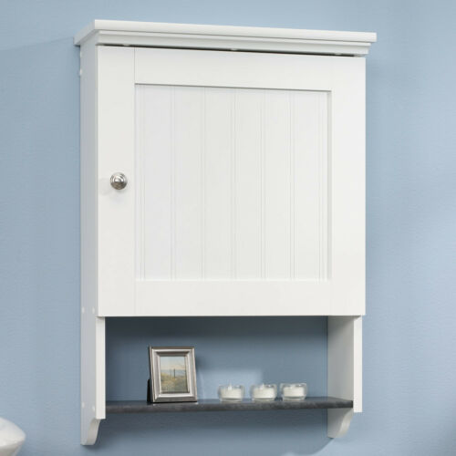 Bathroom Wall Cabinet White Over Toilet, White Beadboard Bathroom Wall Cabinet
