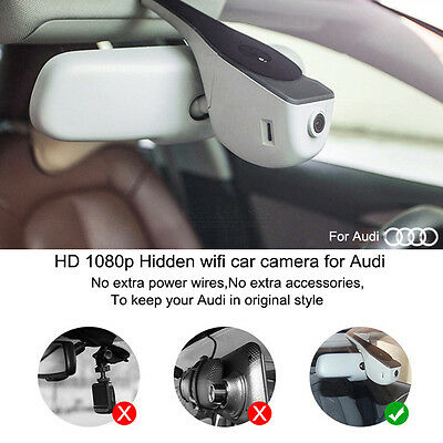 HD 1080P Wifi автомобильный видеорегистратор For Audi A3/A4L/A5/6L/7/Q5(13y-15y)