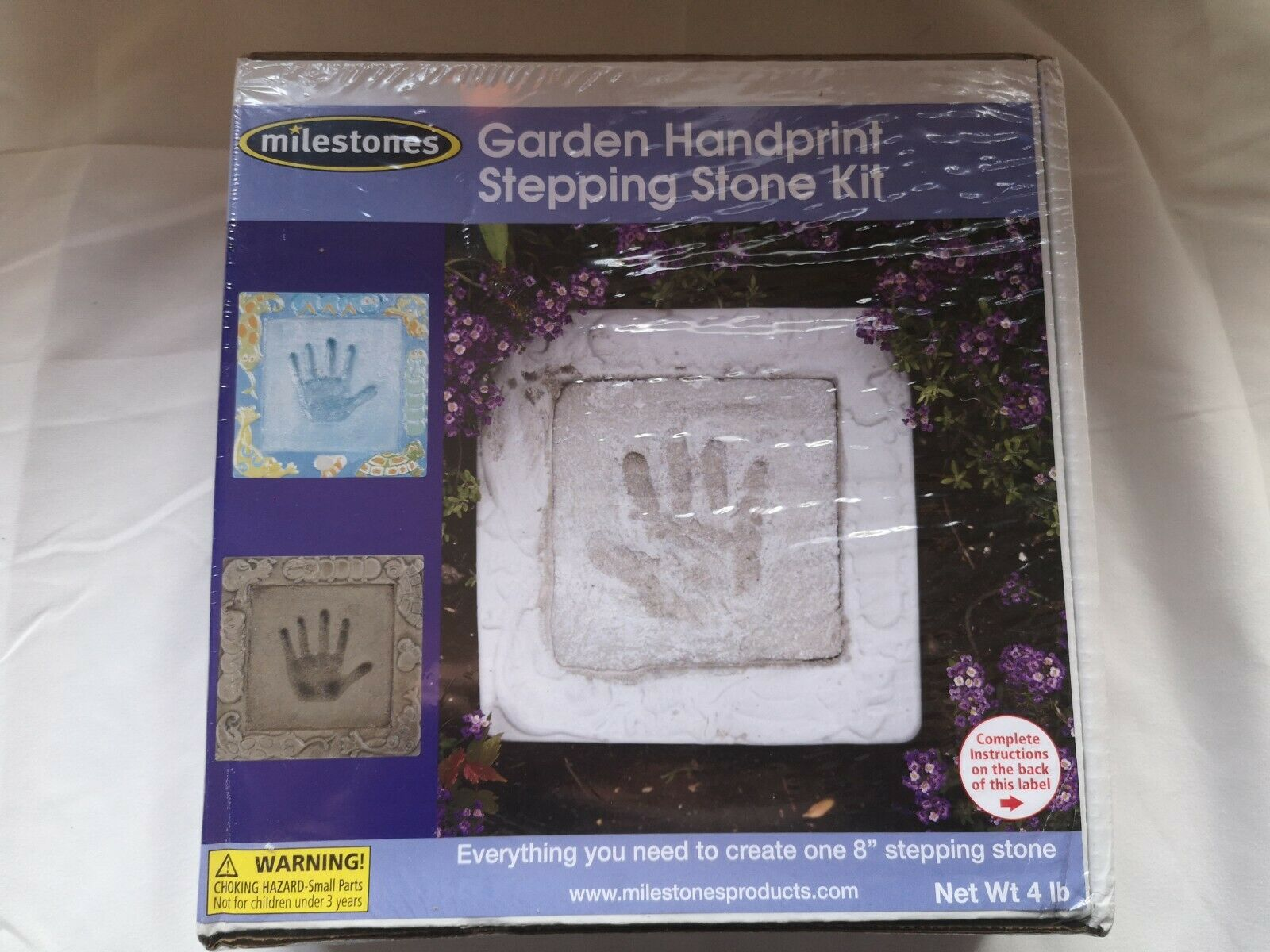 Midwest Products Glass Mosaic Stepping Stone Kit Garden Handprint ...