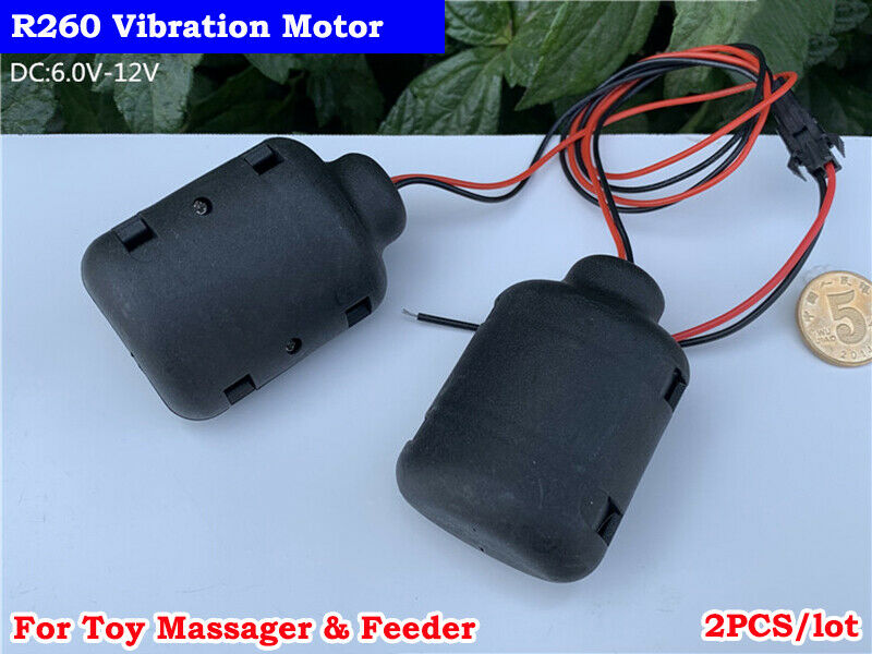 2PCS DC6V 12V Strong Vibration Micro R260 Vibrating Motor DIY Toy Massager Model