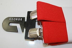 George Brand Casual Red Suspenders - Style 8009JA