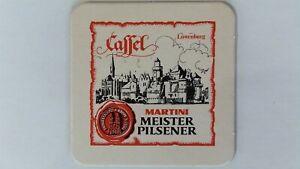 Kassel Martini Meister Pilsener, lowenburg Bierdeckel Bier Untersetzer