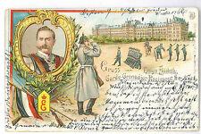 Regimentskarte Königin Elisabeth Garde-Grenadier-Rgt. Nr. 3 Litho Berlin 1899