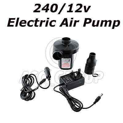 Air Beds Swimming For Camping Red Wood 240v//12v  Electric Air Pump Inflator