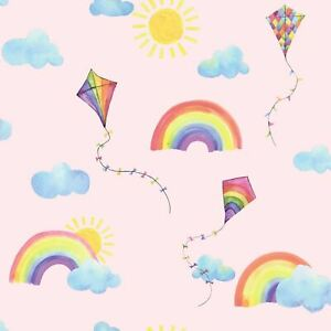 Over-The-Arc-En-Ciel-Volant-Cerfs-Volants-Papier-Peint-91021-Soleil