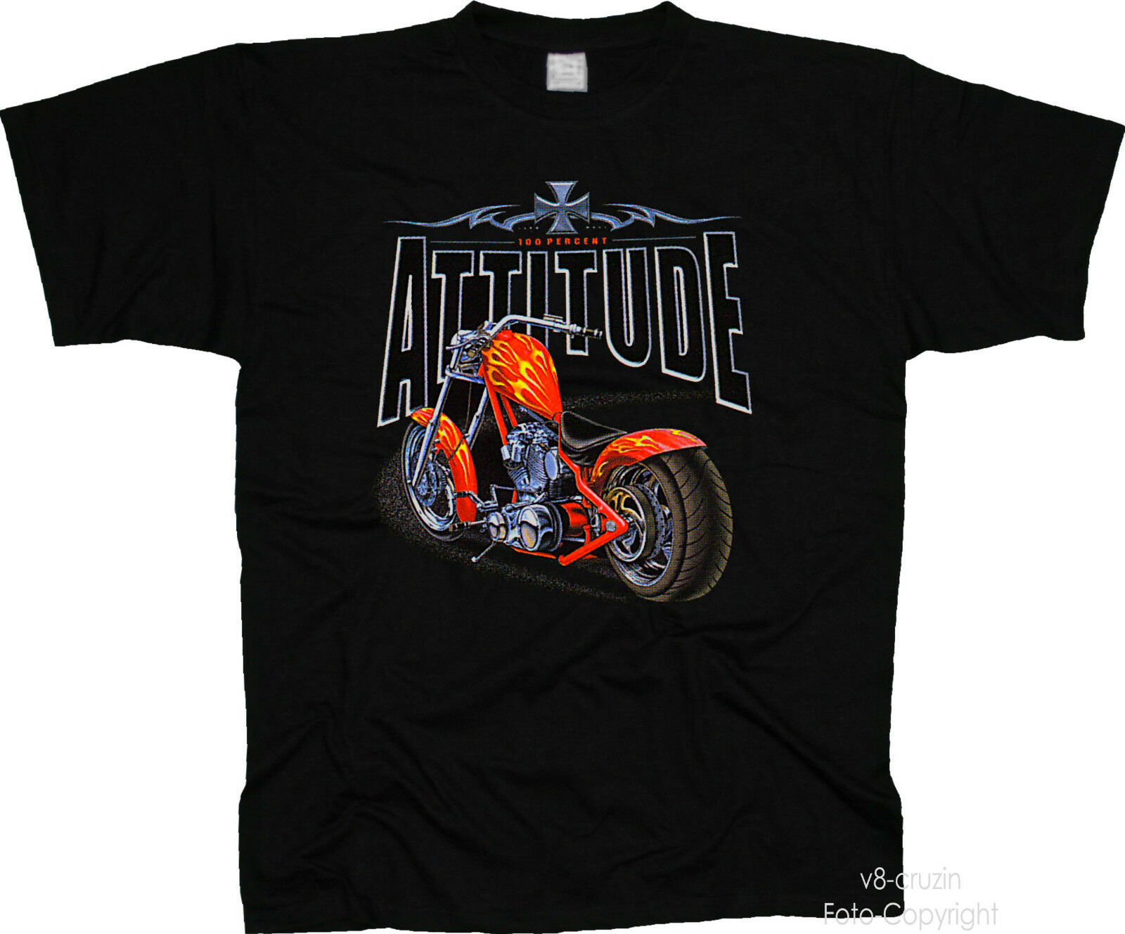 * Biker Custom Motorcycle * Chopper Moto T-Shirt * Motorcycle 4009 BL 892892
