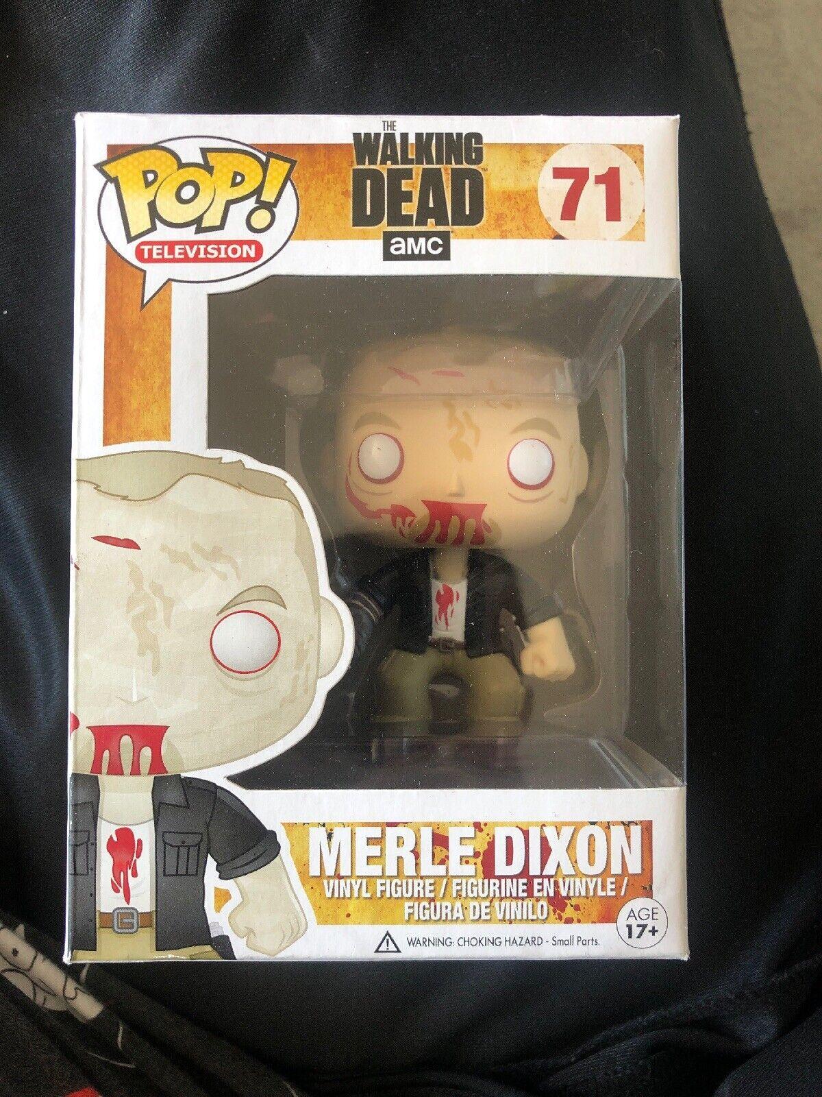 Merle Dixon Funko Pop gående Dead Sällsynta Zombie