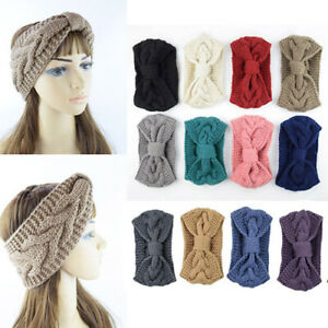 Soft-Girls-Knitted-Knot-Headband-Head-Wrap-Ear-Hair-Band-Winter-Crochet-Turban