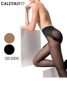 Collant-Push-Up-Calze-Velate-Modellanti-Shaper-20-DEN-Made-in-Italy