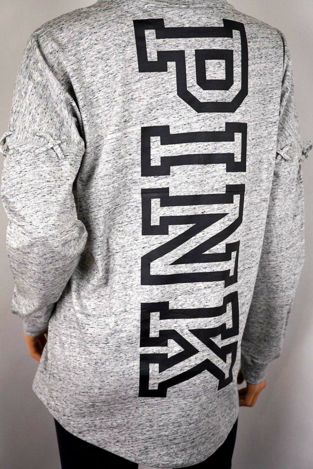 VICTORIA'S Geheim Pink Langärmlig Campus T-Shirt Crew Marl grey XS
