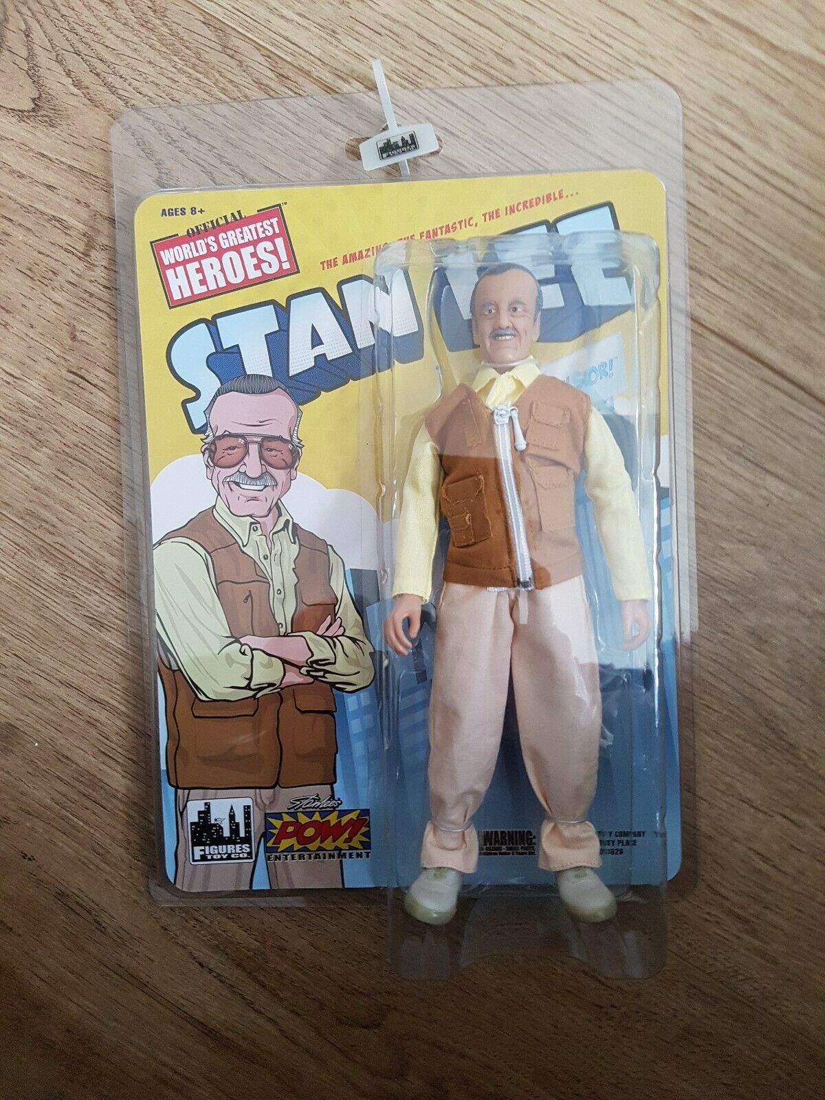 Figuras Juguete Co. mundos mayor Hero's Stan Lee Excelsior Retro Figura. Raro.
