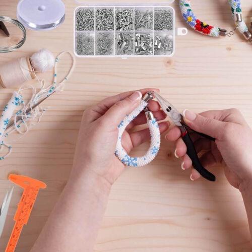 DIY Jewelry Making Jewelry Findings Starter Tool Plier Silver Beads Wire Starter