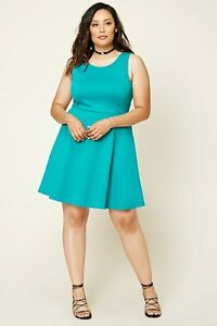 Details about Forever 21 Plus Size Jade Skater Dress 2X