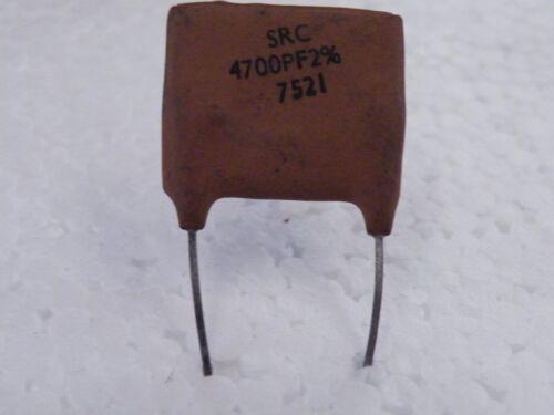 1 PC Vintage Radio Plateado Condensador de MICA 4700pF 350 V CN21