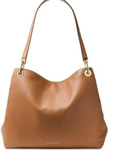 849c829b81d6 New Michael Kors Raven Extra-Large Shoulder Tote Acorn leather snap ...