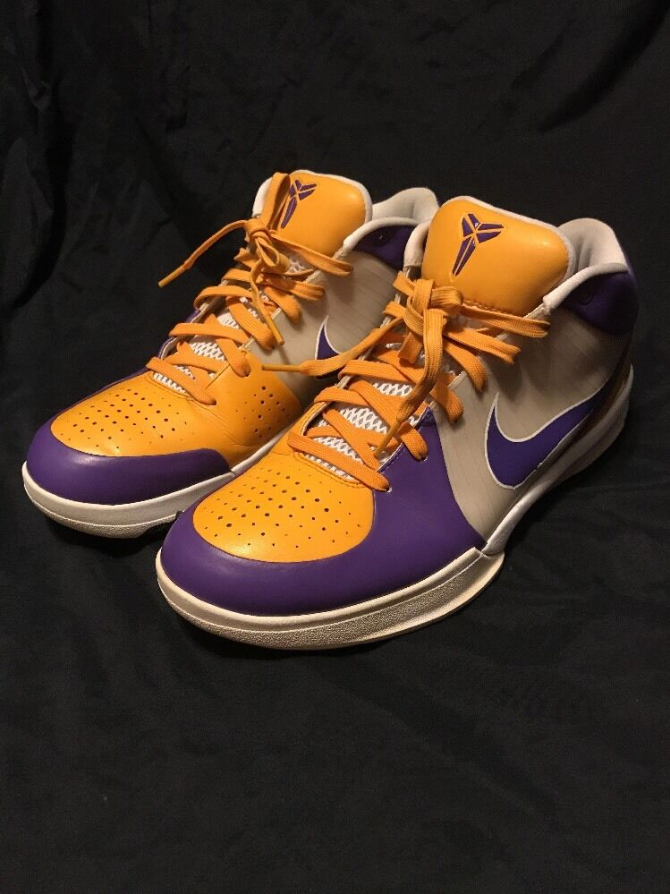 nike kobe 4 lakers size 13 good condition