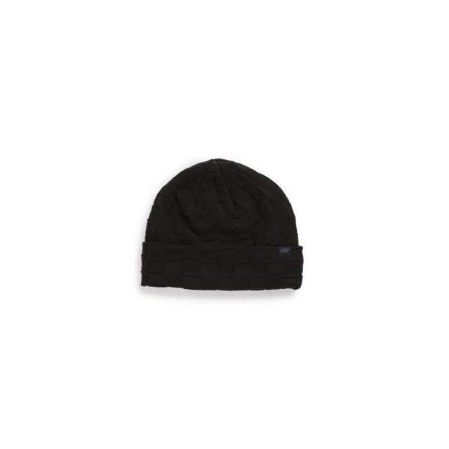 b6aba45caf4 Vans Off The Wall Cappello Cuff Beanie Black Cap Hat 100% Acrylic New NWT