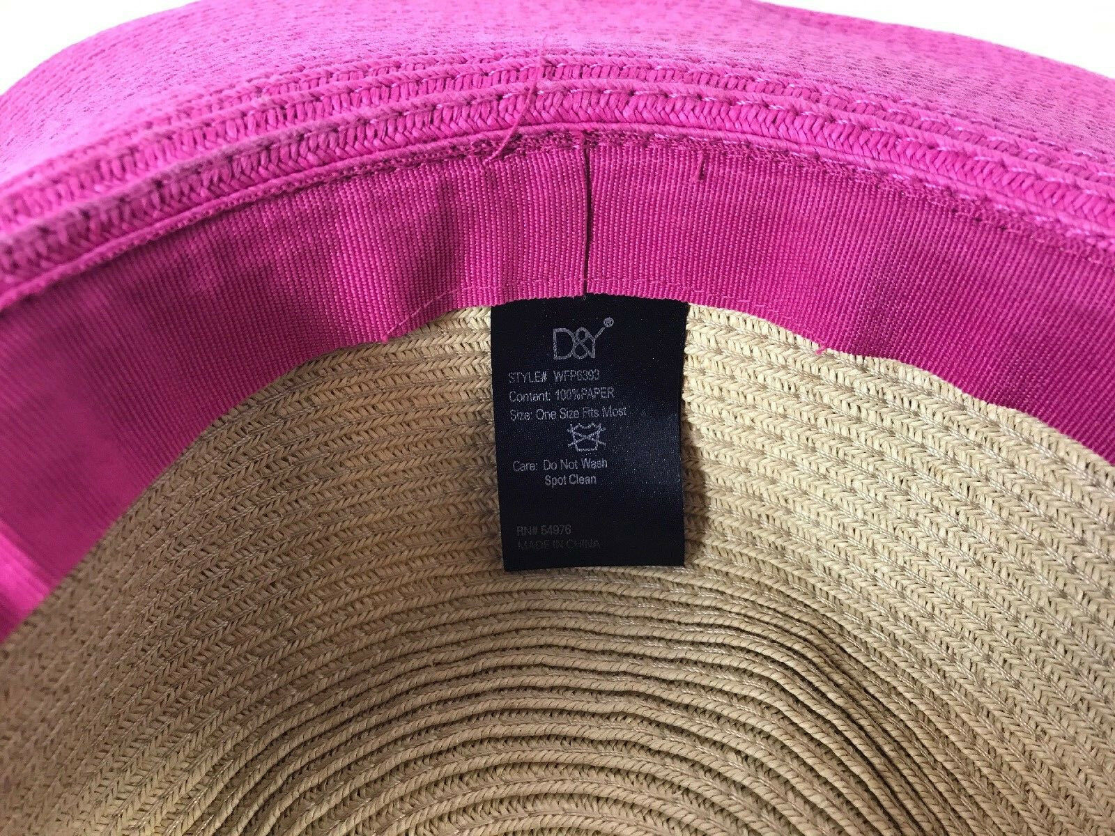 DSY Floppy Hat 100% Paper Straw Classic Straw Hot… - image 9