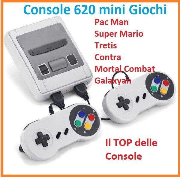 videogiochi e console: Console videogioco games mini 620 GIOCHI preinstallatiI + 2 JOYPAD