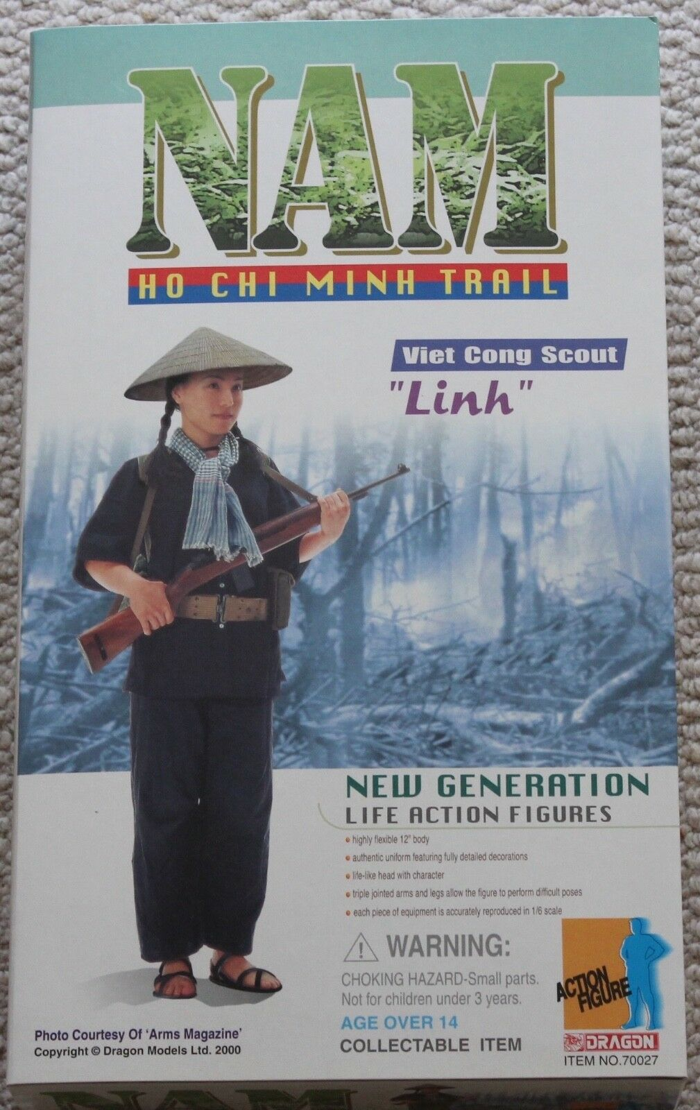 Dragon action figure nam linh viet cong scout 70027 1 6 12'' hot toy ww11 did