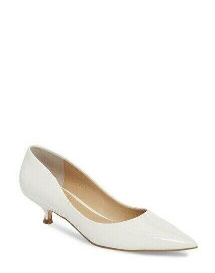 Marc Fisher LTD Women's Xanthe Kitten Heel Pump White Size 6 MSRP