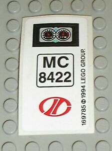 Autocollant-LEGO-Sticker-Sheet-Technic-MC-8422-Guages-ref-169785-Set-8422