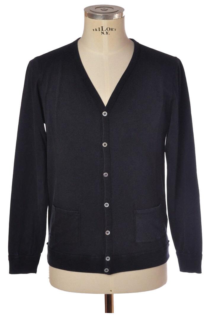 Alpha - Knitwear-Cardigan - man - Blau - 826518C180603