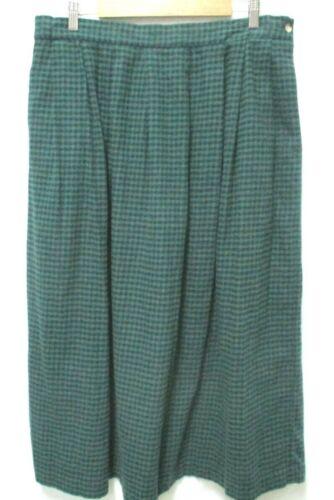 Orvis Vintage tartan plaid flannel Skirt w/Pockets