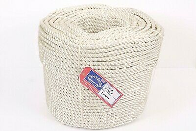 6mm Everlasto Three Strand Nylon Mooring/anchoring Rope Various Lengths