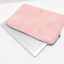 """Pink Leather NoteBook//Laptop//Macbook Air Pro Incase Sleeve Case Bags 13/"""" 14/"""" 15/"""""""