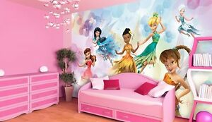 riesen wandtapete foto tapete f r m dchen raum disney feen tinkerbell deko ebay. Black Bedroom Furniture Sets. Home Design Ideas