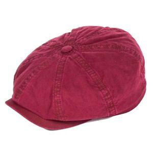 0cea1570604b28 Image is loading Stetson-Hats-Hatteras-Bakerboy-Cap-Organic-Cotton-Burgundy